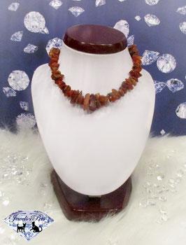 "Amber dog necklace ""amber"""