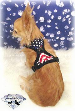 "Jewels4Pets dog harness ""America"""