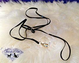 """Jewels4Pets dog leash """"Blacky"""""""