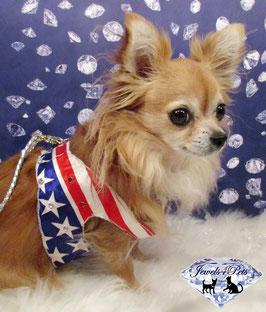 """Jewels4Pets dog harness """"Stars & Stripes"""" click & go"""