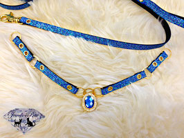 "Jewels4Pets Luxus Halsband & Leine ""Las Vegas"""