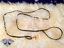 "Jewels4Pets luxury dog leash ""Golden Chain"""