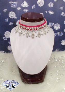"Jewels4Pets Luxus Schmuck-Halsband ""Pink Passion"""