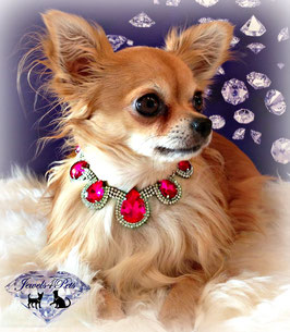 "Jewels4Pets dog necklace ""Pretty in Pink"""