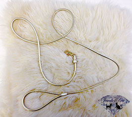 "Jewels4Pets luxury leash ""Goldfever"""