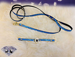 "Jewels4Pets Luxus Halsband & Leine ""Eternity"""