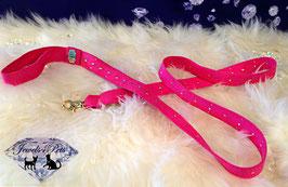 "Jewels4Pets dog leash ""Pink Passion"""