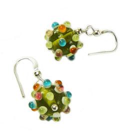 Ohrhänger colour dots / grün