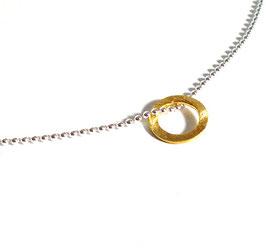 Kugelkette Kreis / silber-gold