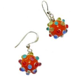 Ohrhänger colour dots / orange