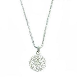 Silber-Glitzerzopfkette  Mandala