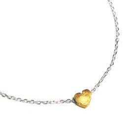 Silberkette mini Herz vergoldet