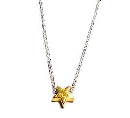 Silberkette kleiner Stern vergoldet