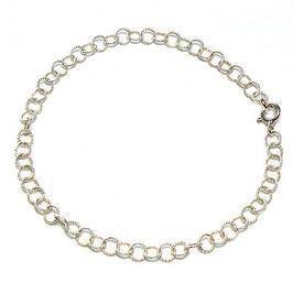 Silberarmband Öse gekordelt