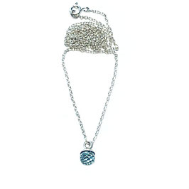 Silberkette Aquamarinsteinkugel