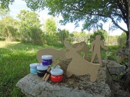 Figurine en bois, à poser (à peindre). Unité au choix