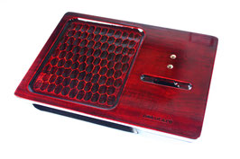 携帯忘れな盆(iPhoneタイプ):春慶(紅)一刀彫096