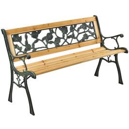 JU200575 Gartenbank aus lackiertem Holz und Gusseisen