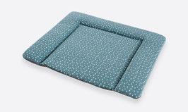 Wickelauflage PVC-frei Tropfen ozeanblau