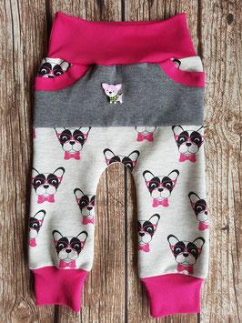 Cozy Pants Französische Bulldoggen mit Brille Pink