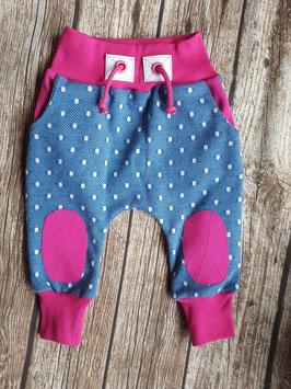 Baggy Pants Jeans Dots Pink
