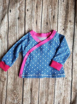 Wickelshirt Jeans-Dots/pink