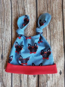 Knot-Hat-Twin Französische Bulldogge Sonnenbrille Rot