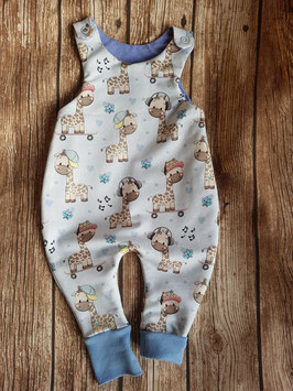 Classic Strampler Baby-Giraffe Blau