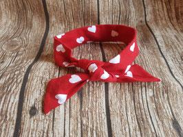 Knoten-Haarband Herzen/rot