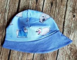 Sommerhut Mops blau