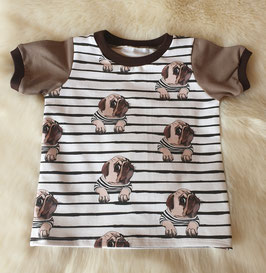 Baby Shirt mit kurzen Armen Mops