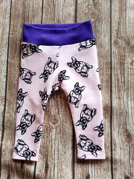 Baby-Leggings Französische Bulldogge Rosa/Lila