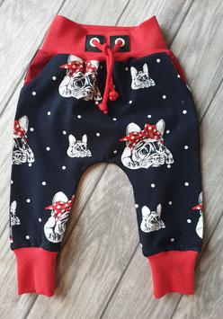 Baggy Pants Französische Bulldogge Hilde schwarz