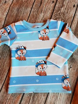 Baby Shirt mit langen Armen Füchse blau