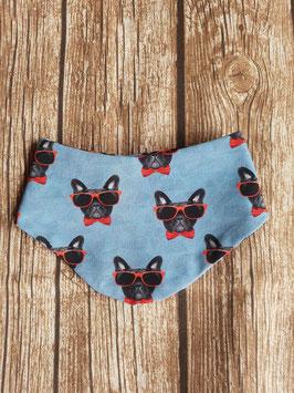 Halstuch Französische Bulldogge Sonnenbrille Rot One Size