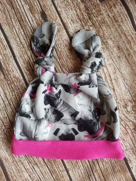 Knot-Hat-Twin Französische Bulldogge Pink
