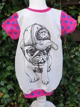 Ballonkleid Mops/ Pinke Sterne