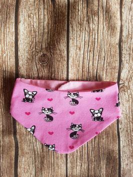 Halstuch Pink HUnd und Katze One Size