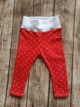 Baby-Leggings Rot/Dots