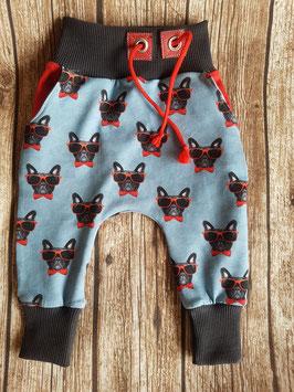 Baggy Pants Französische Bulldogge Sonnenbrille Rot