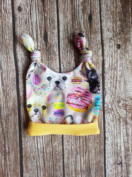 Knot-Hat-Twin bunte Französische Bulldogge Gelb