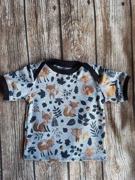 Baby Shirt Füchse Gold