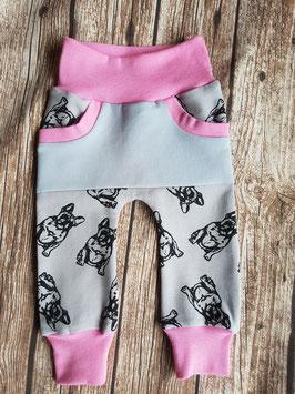 Cozy Pants Französische Bulldogge Rosa/Grau