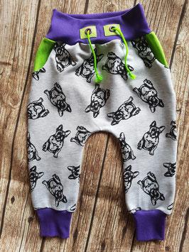 Baggy Pants Französische Bulldogge Grau