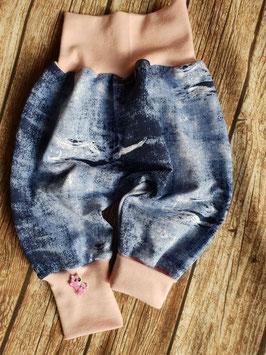Pumphose Destroyd Jeans Rosa