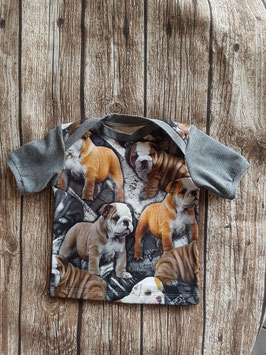 Baby Shirt mit kurzen Armen Englische Bulldogge