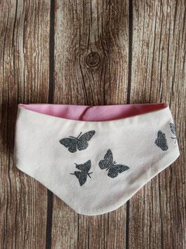 Halstuch Schmetterlinge Ecru Rosa One Size