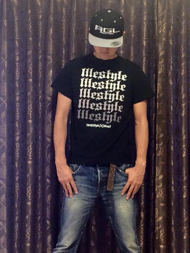 NEW illest & 1048Style collaboration T-shirts Black 「 lllestyle 」