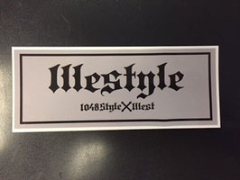 1llstyle sticker set (illest X 1048Style collaboration sticker)