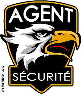 "Ecusson tissé ""AGENT SECURITE"""